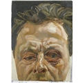 "Lucian Freud's ""Self-portrait with a black eye"" c. 1978, oil on canvas"