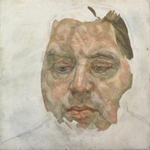 "Lucian Freud's ""Francis Bacon,"" 1956-1957, oil on canvas"