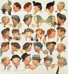 "Norman Rockwell's ""The Gossips"""