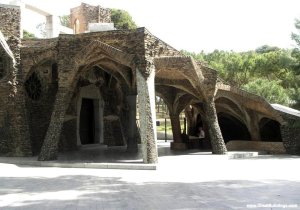 Colonia Guell, near Barcelona, Spain, 1898 , 1908 to 1915. Image courtesy  http://www.greatbuildings.com/
