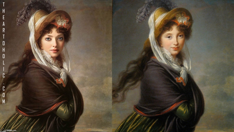 Amanda Seyfried / Elisabeth Vigee-Lebrun, Portrait of a Young Woman