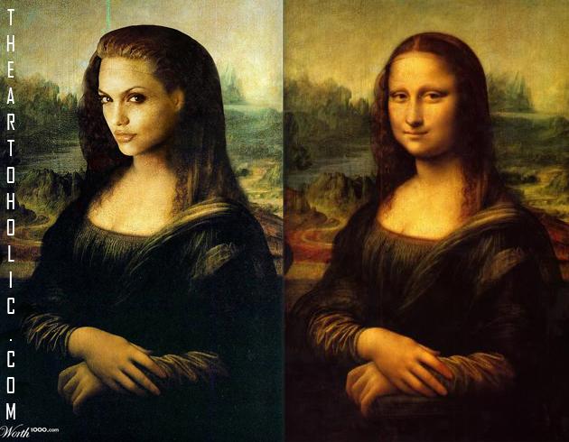 Angelina Jolie / Leonardo da Vinci, Mona Lisa