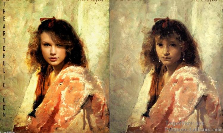 Taylor Swift / John Singer Sargent, Carmela Bertagna Portrait